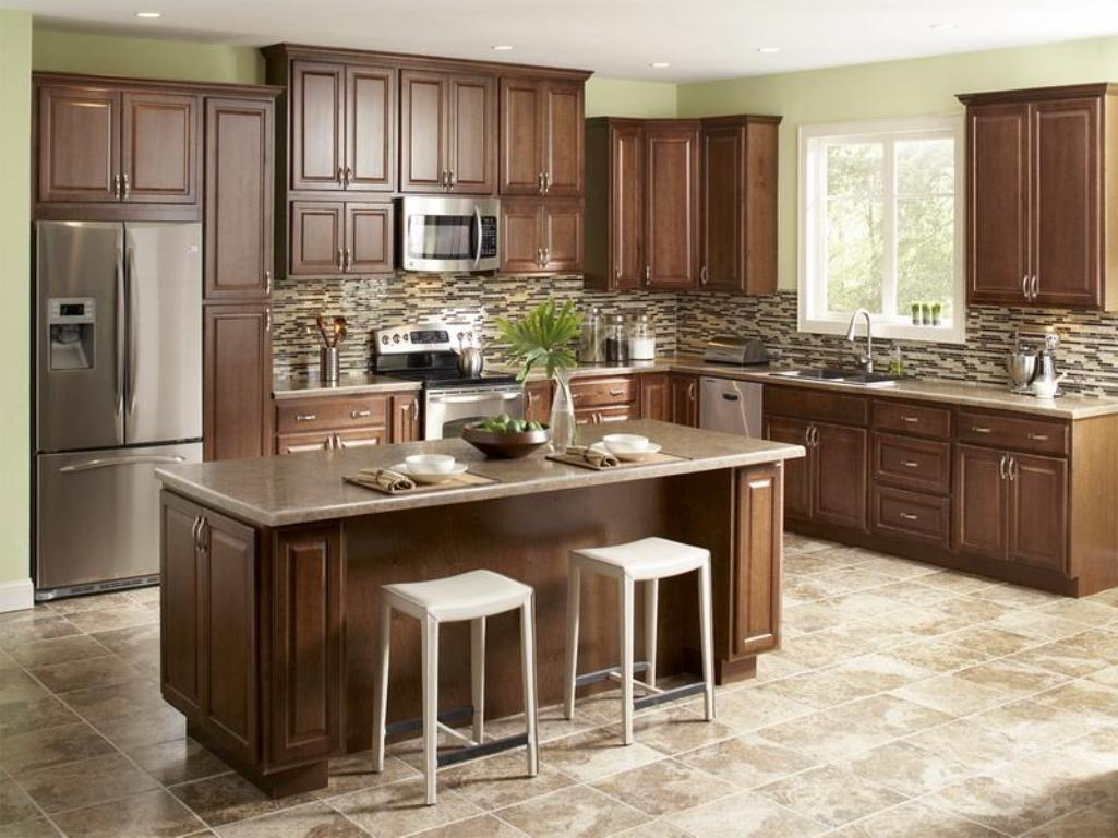 Measuring guide define your style - Modern kitchen ideas with brown kitchen cabinets ...